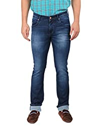 Oxemberg Men's Slim Fit Denim (HL7689_BLUE_36)