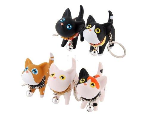 Etou 5 Pcs Cute Kate Cat Doll Key Rings M.