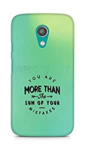 AMEZ you are more than the sum of your mistakes Back Cover For Motorola Moto G2