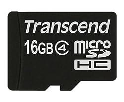 Transcend TS16GUSDC4 - Tarjeta de memoria microSDHC de 16 GB (clase 4)