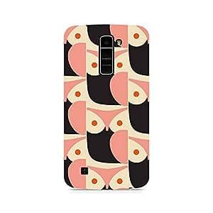 Motivatebox- Pink Owl Premium Printed Case For LG K7 -Matte Polycarbonate 3D Hard case Mobile Cell Phone Protective BACK CASE COVER. Hard Shockproof Scratch-
