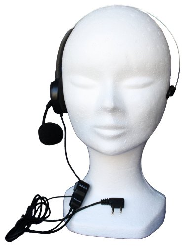 Midland Ma35-L Single-Ear Headset With Headband And Microphone Stem With Vox / Ptt For Walkie Talkies