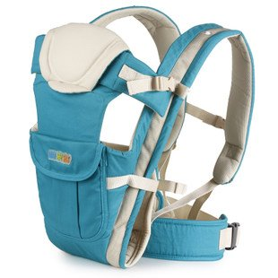 Happy Bear Baby Carrier, Baby Wrap #3008 (Light Blue) front-33893