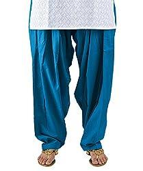 Neha Fashion Women's Regular Patiala Pant ( Blue )