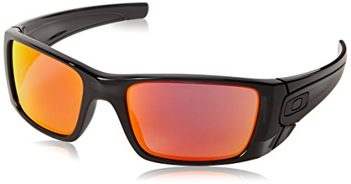 Oakley Fuel Cell Sunglasses, Polished Black Ink/Ruby Iridium, 55 Mm