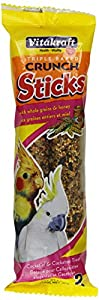 Vitakraft Australian Cockatiel Honey Sticks and 5.9-Ounce Bag