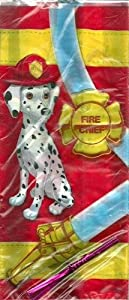 Firefighter Party Treat Bags with Twist Ties 20 - 5 in. x 11.25 in.