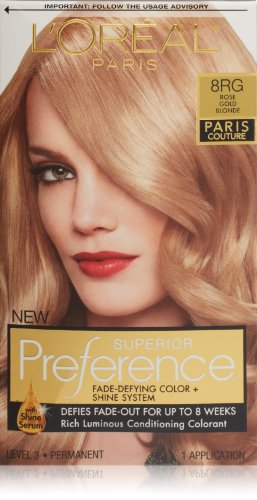 L'Oreal Preference Paris Couture Hair Color, 8Rg Rose Gold Blonde