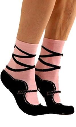 Foot Traffic Non-skid Ballet Slipper Socks by Foot Traffic,One Size,Pink
