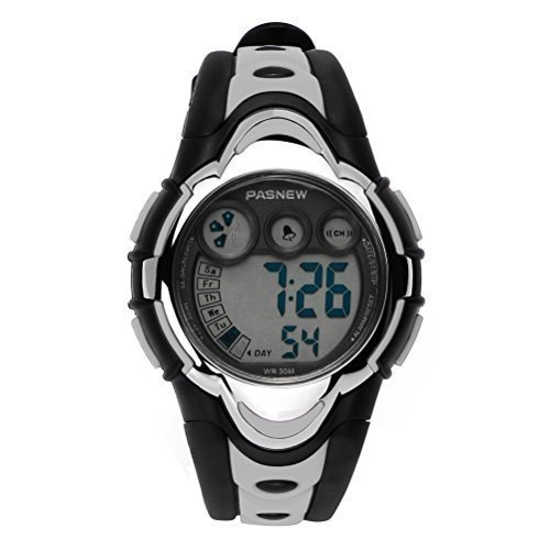 hiwatch-youth-waterproof-watch-digital-sports-watch-with-alarm-stopwatch-for-kids-girls-boys-grey