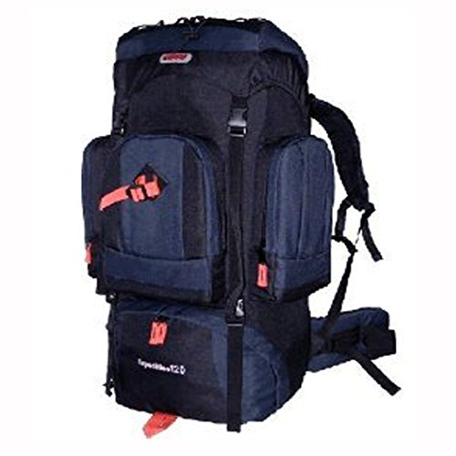 Cuscus 120L Internal Frame Hiking Camp Backpack Travel Bag Navy Black front-202450