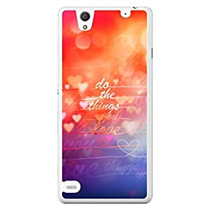 a AND b Designer Printed Mobile Back Cover / Back Case For Sony Xperia C4 (SONY_C4_3089)