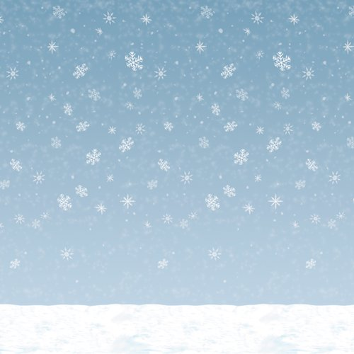 Winter Sky Backdrop Party Accessory (1 count) (1/Pkg) (Central Seller compare prices)