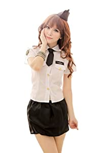 Sexy Game Uniforms Racing Car Girl Three Piece Set Role Costume Uniform H73