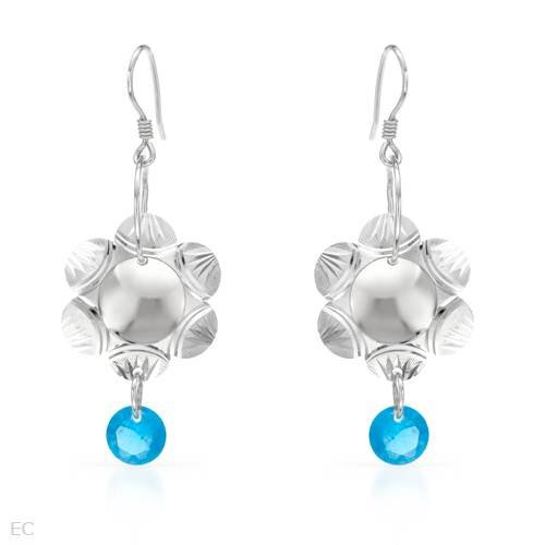 Earrings With Genuine Crystals 925 Sterling silver