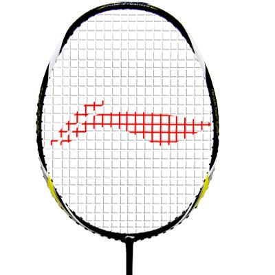 Li-Ning X102 Turbo Carbon Fiber Badminton Racquet, Size S2 (Black/White)