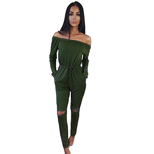 longwu-womens-fashion-off-shoulder-drawstring-jumpsuits-rompers-knee-hole-pants-green-xl