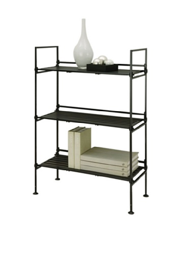 Organize It All Ebonize 3-Tier Shelf in Espresso