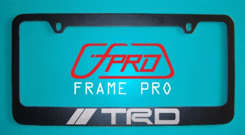 Toyota Trd Black License Plate Frame (Zinc Metal) (Black Trd License Plate Frame compare prices)