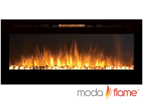 Best Buy! Moda Flame 50 Cynergy Pebbles Stone Built-in Wall Mounted Electric Fireplace