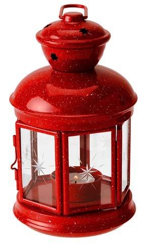 Gsi Outdoors Red Graniteware Fiesta Candle Lantern