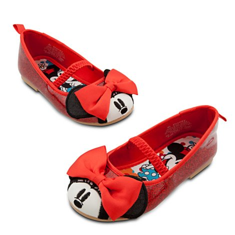 Disney Store Minnie Mouse Shoes/Slippers Size 9 (3 Yr): Red Toddler Ballet Flats