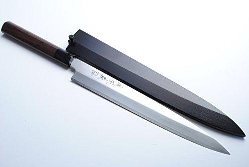 "Yoshihiro VGYA330SH Stainless Hongasumi Yanagi Sushi Sashimi Japanese Chef Knife, 13"", Rosewood"