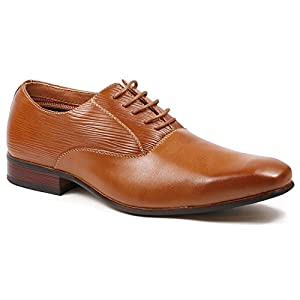 Ferro Aldo MFA-19503L Men's Brown Lace Up Classic Oxford Dress Shoes (9)