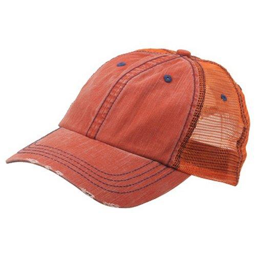 Low Profile Special Cotton Mesh Cap-Orange (Low Profile Trucker Cap compare prices)