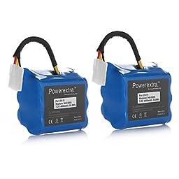 Powerextra 2 Pack 7.2V 4000mAh Neato XV-11 XV-12 XV-14 XV-15 XV-21 Vacuum Cleaner Replacement Battery for Neato Robotics 945-0005 205-0001 945-0006 945-0024