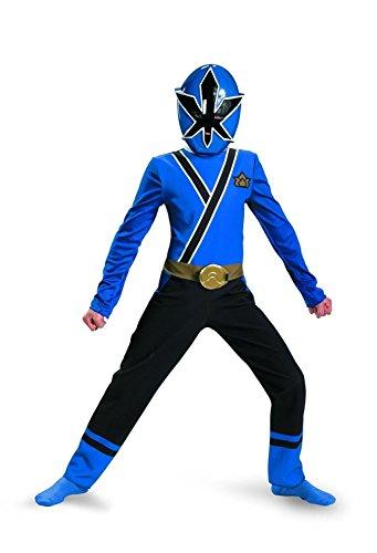 Saban's Power Rangers Super Samurai Child's Costume 2pc set Size 4 - 6x (Blue Ranger) (Power Rangers Blue Costume compare prices)