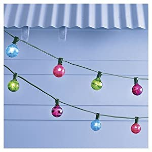 10 count multi color marble globe lights
