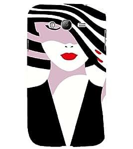 PrintVisa Fashion Girl Hat 3D Hard Polycarbonate Designer Back Case Cover for Samsung Galaxy Grand Neo Plus