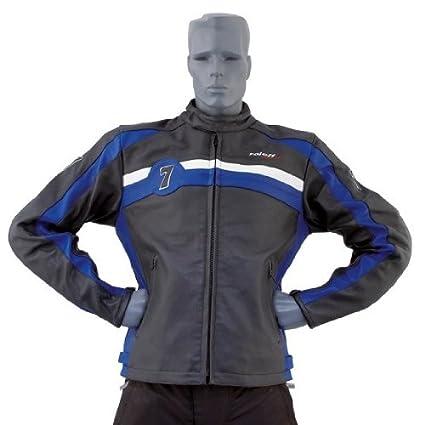 Roleff Racewear 8215 Blouson Cuir Barry, Bleu/Noir, XL
