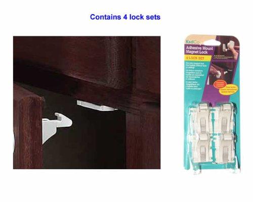 KidCo Adhesive Mount Magnet Lock - 4 Set
