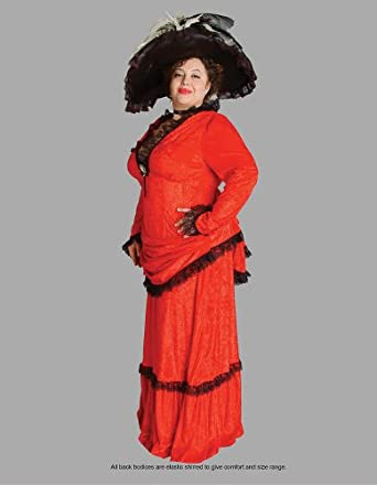 deluxe plus size victorian lady theatrical
