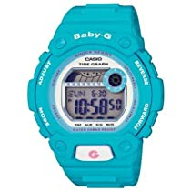 Casio BLX102-2B Womens Baby-G Shock Resistant Light Blue Digital Sport Watch