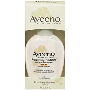 Amazon.com : Aveeno Positively Radiant Daily Moisturizer SPF 15-4 oz