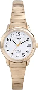 Timex Women's 2H351 Easy Reader With Date, Gold Expansion Band Watch
