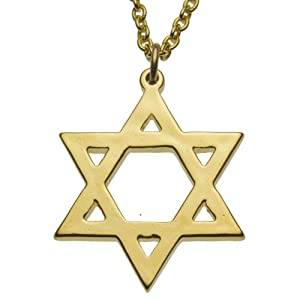 Star of David Gold-dipped Pendant Necklace on 18