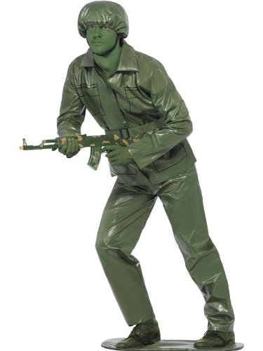 Smiffy'S Men'S Toy Soldier Costume Top Trousers Belt Hat And Foot-Base, Green, Large