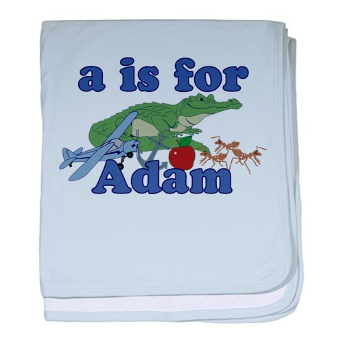 Cafepress A Is For Adam Baby Blanket - Standard front-1070648
