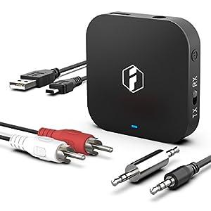 Inateck aptX HD Bluetooth オーディオレシーバー&トランスミッター,BR1008