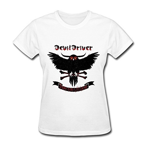 Donna's DevilDriver Pray For Villains T-Shirt bianca XX-Large