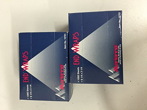 Hair End Wraps 2 Pack 2/1000 Sheets 2 1/4 x 3 1/4 (Hood Hair Drier compare prices)