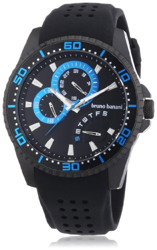 Bruno Banani Men's Quartz Watch Shiva BR22005 with Rubber Strap