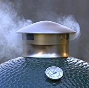 Amazon.com : SmokeWare SS Vented Chimney Cap for Big Green Egg : Grill Accessories : Patio, Lawn & Garden