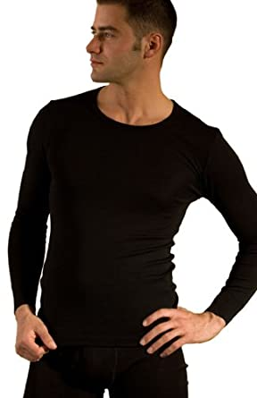 Long-Underwear Shirt in Organic Wool-Silk Blend, Unisex by Hocosa of Switzerland