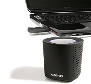 Veho VSS-002w Mimi Qube 2.4 GHz WiFi Speaker System Including Transmitting Dongle