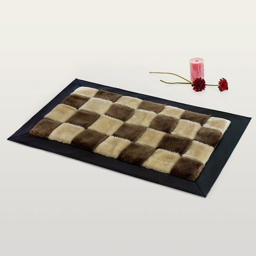 Onitiva - [Chocolate & Butter] Handwoven Home Rugs (19.7 by 31.5 inches)